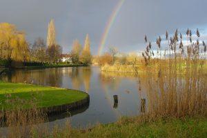 Regenboog aan de Leie (Luc Sobry)